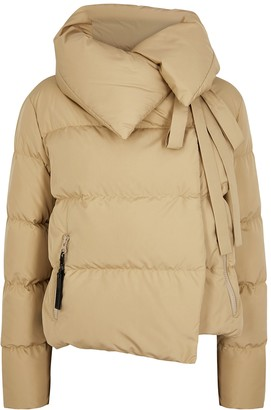 Bacon Camel Quilted Shell Jacket