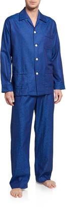 Derek Rose Men's Paris 17 Tonal Floral Pajama Set