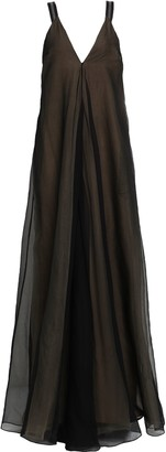 Brunello Cucinelli Bead-embellished Silk-organza Gown