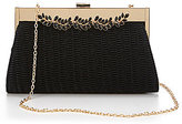 Kate Landry Quilted Faux-Leather Vine Frame Clutch