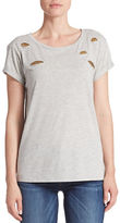 GUESS Embellished Peek-Through Tee