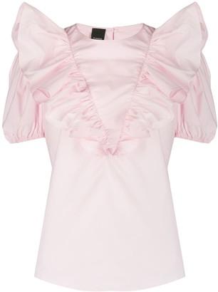 Pinko Ruffle Trim Shirt