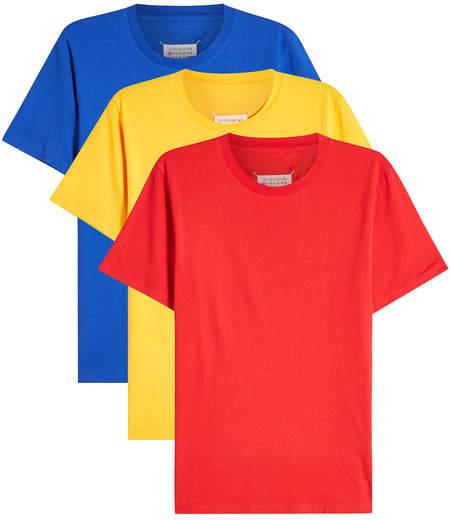 Maison Margiela Pack of 3 Cotton T-Shirts