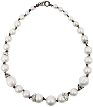 Alexis Bittar Silver Pearls Necklaces