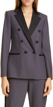 Rebecca Taylor Tailored by Double Breasted Gabardine Jacket