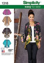 "Simplicity 1318 Size A ""Misses' Kimono Jackets"" Sewing Pattern"
