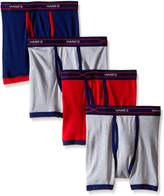Hanes Boys` X-Temp 4-Pack Ringer Boxer Briefs with Comfort Flex Waistband