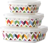 French Bull Ziggy Porcelain Storage Containers (Set of 3)