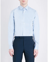 Duchamp Patterned Tailored-fit Cotton-twill Shirt