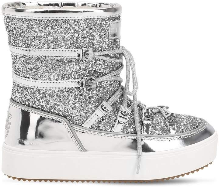 Chiara Ferragni 30mm Glittered Snow Boots