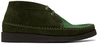 Comme des Garçons Homme Deux Green Padmore and Barnes Edition Willow Boots