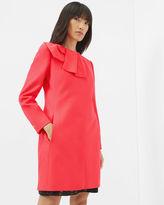 ELANI Bow detail wool and cashmereblend coat
