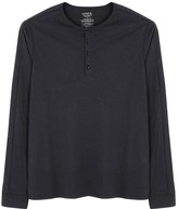 Vince Navy Pima Cotton Henley Top