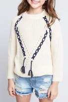 Hayden Los Angeles Criss-Cross Tassel Sweater
