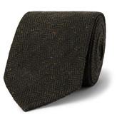 Drakes Drake's - 8cm Herrinbgone Wool-Tweed Tie