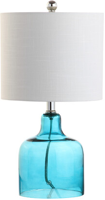 Jonathan Y Designs Gemma 19In Glass Bell Led Table Lamp