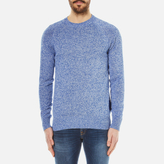 Barbour Cotton Staple Crew Knitted Sweater Bright Blue