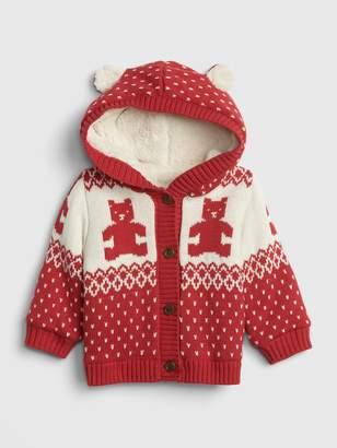 Gap Baby Brannan Bear Sherpa-Lined Sweater