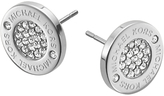 Michael Kors Pave Round Stud Earrings, Silver