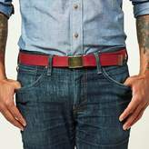 Blade + Blue Cranberry Red Cotton Web Military Belt