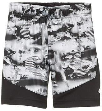 Nike Kids Dri-FITtm Dominate Graphic Pull-On Shorts (Little Kids) (Black) Boy's Shorts