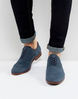 Aldo Coallan Derby Shoes In Blue Suede