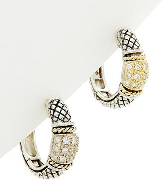 Candela Andrea Alhambra 18K & Silver 10.32 Ct. Tw. Diamond & Smokey Quartz Earrings