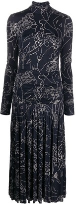 Victoria Victoria Beckham Linier Jazz Club printed dress