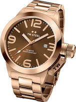 TW Steel CB191 Canteen rose gold PVD-plated stainless steel watch