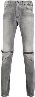 Palm Angels Zip Detail Skinny Jeans