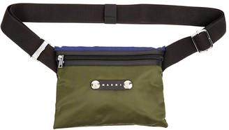 Marni Hackney colour-block nylon cross-body bag