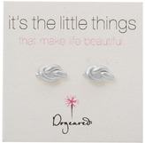 Dogeared Little Things Simple Knot Studs Earring