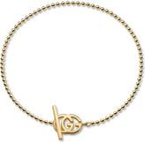 Gucci Brand-motif 18ct yellow-gold bracelet