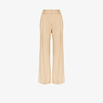 Wales Bonner High-waisted wide leg trousers