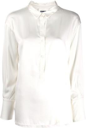Kristensen Du Nord Half Button Front Shirt