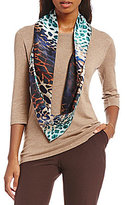 Investments 3/4 Sleeve Scarf Sweater