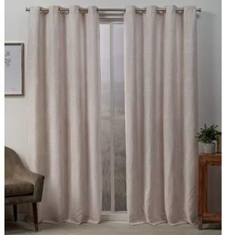 Mid-Century MODERN Exclusive Home Stanton Branch Textured Grommet Top Blackout Curtain Panel Pair