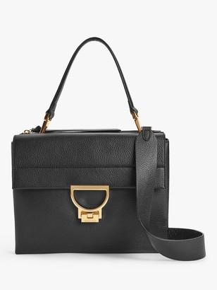 Coccinelle Arlettis Leather Shoulder Bag, Black