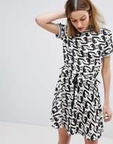 Paul & Joe Sister Cat Print Mini Dress