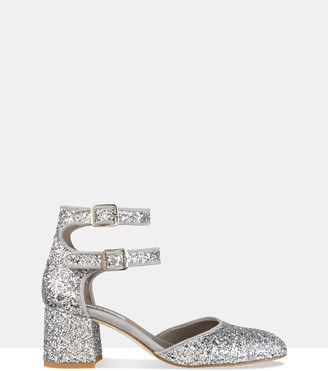Habbot. Women's Silver Heeled Sandals - Dover Mid-heel Pumps - Size One Size, 38 at The Iconic