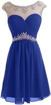 MILANO BRIDE Classy Homecoming Dress For Junior Short Crystals Cocktail Gown-US size
