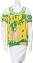 Tibi Embellished Silk Top