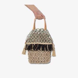 Aranaz Multicoloured Lambat 2 Abaca beaded raffia bag