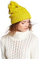 Cara Accessories Pompom Knit Sweater Beanie