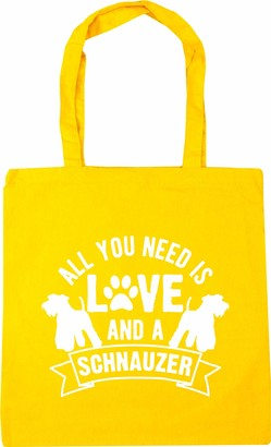 Hippowarehouse All you need is love and a Schnauzer Tote Shopping Gym Beach Bag 42cm x38cm 10 litres