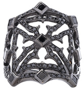 Loree Rodkin Queens Maltese Open Cross Ring in Metallics.