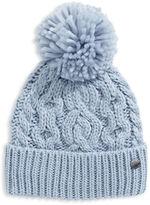 Rella Wool Knit Hi Rise Pom Pom Hat