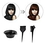 3pcs Dyeing Bowl, Misaky 1 Set Black Plastic Dyeing Bowl