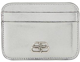 Balenciaga BB leather card holder