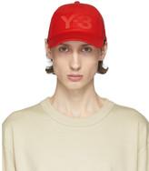 Y-3 Y 3 Red Logo Cap